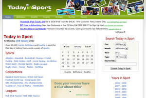 On This Day in Sport  - Designed, developed, maintained and hosted by Solution Second